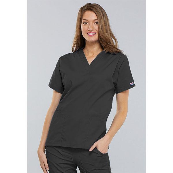 Majica s V-izrezom - 4700-PWTW
