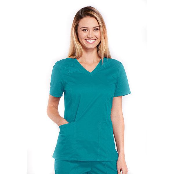 Majica s V-izrezom - 4710-TLBW