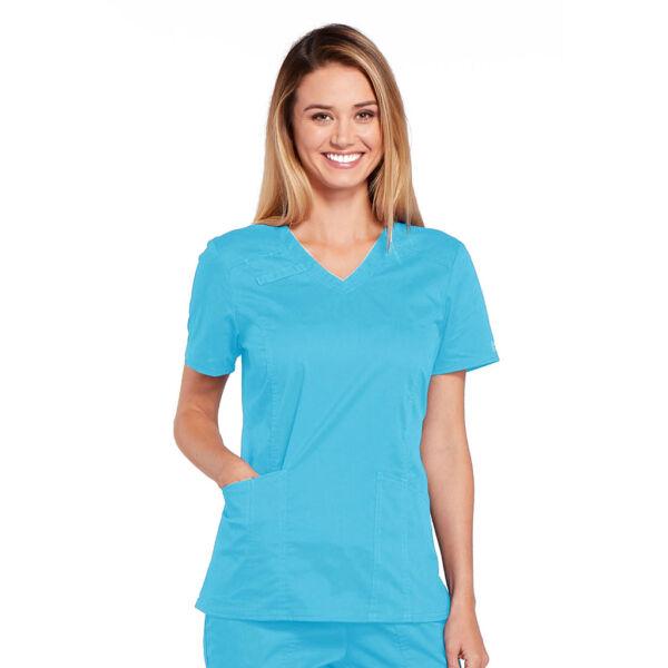 Majica s V-izrezom - 4710-TRQW