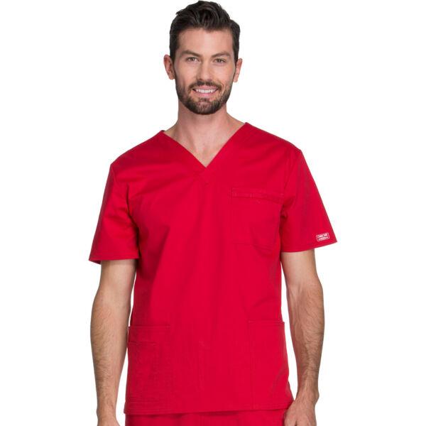 Unisex majica s V-izrezom - 4725-REDW