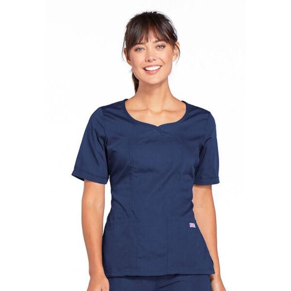 Majica s V-izrezom - 4746-NAVW
