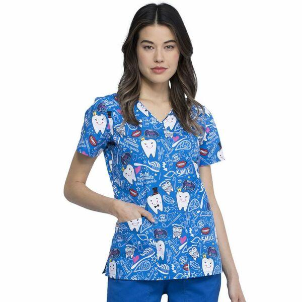 Majica s V-izrezom - CK614-BITH