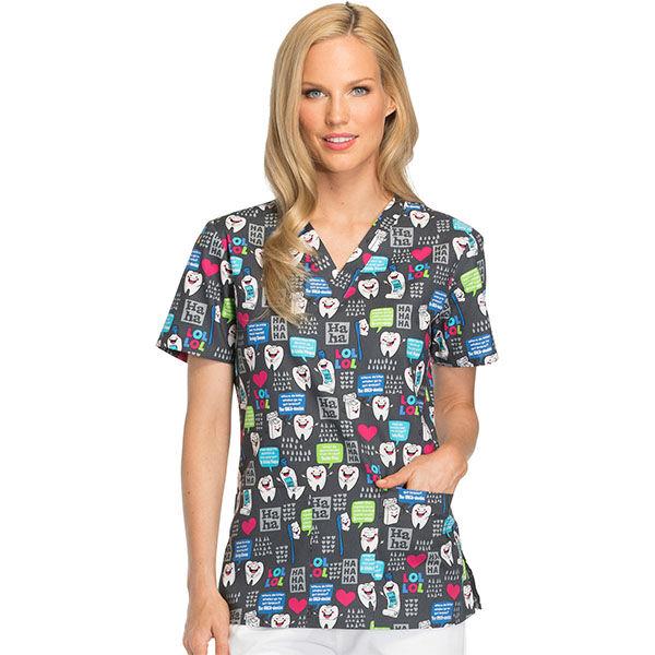 Majica s V-izrezom - DK704-HALU