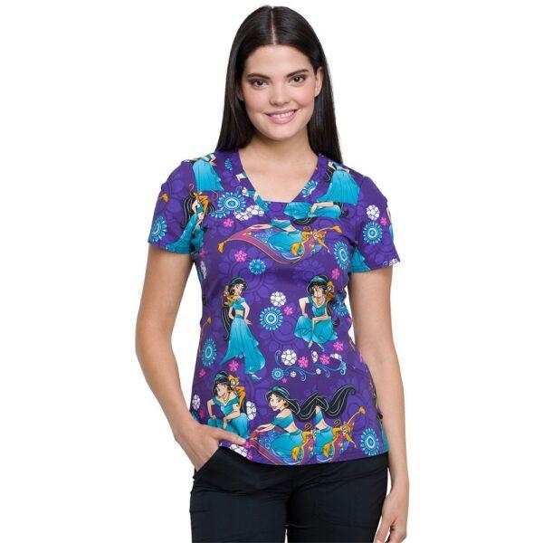 Majica s V-izrezom - TF641-PRAB