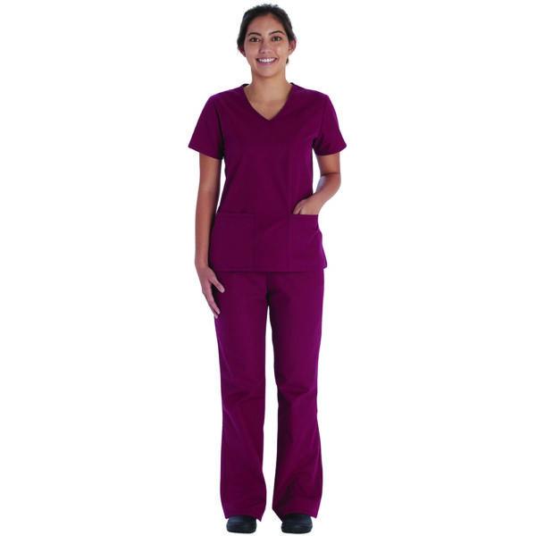 Majica s V-izrezom i hlače s vezicom - VT513C-WIWM