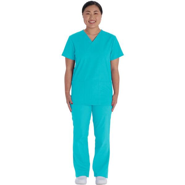 Cherokee unisex set: hlače+bluza turkiz - VT526C-TRQW