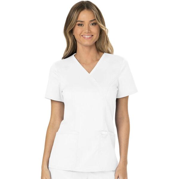 Majica s prešivenim preklopom - WW610-WHT