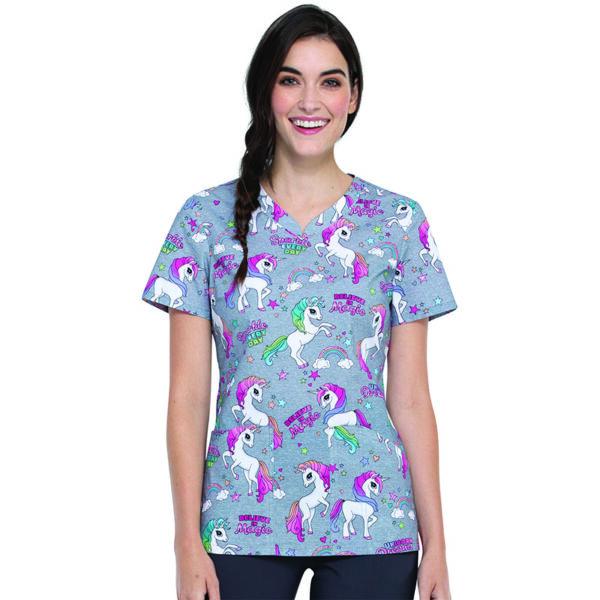 Majica s V-izrezom - CK646-SPEV